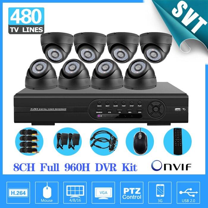 №Дома 8ch видеонаблюдения Системы 8 шт. 480TVL ИК ...