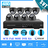 Home 8ch CCTV Surveillance System 8pcs 480TVL IR Night Vision Cameras 8 Channel Full D1 DVR