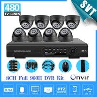 Home 8ch CCTV Surveillance System 8pcs 480TVL IR Night Vision Cameras 8 Channel Full D1 DVR