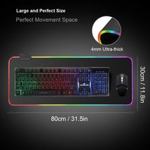 RGB 7 Colorful Luminous Mousepad Gaming LED Lighting Mouse Mat for PC Laptop Desktop Notebook Accessories