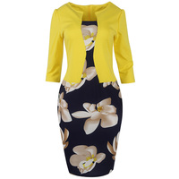 Sisjuly Women S Vintage Bodycon Dress Autumn O Neck Three Quarter Sleeve Patchwork Casual Party Slim