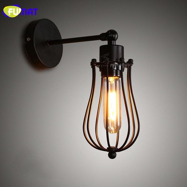 Us 69 6 20 Off Fumat Loft Lampe Kafig Wandleuchten Industrie Retro Wandleuchten Kuche Bar Schlafzimmer Nachttischlampen Vintage Bad Wandlampen In