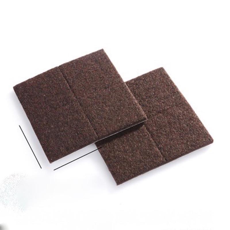 40*40mm 8x Floor Furniture Protection Abrasion Shock Wear Proof Cushion Legs Felt Pads Protector Gasket Brown Beige
