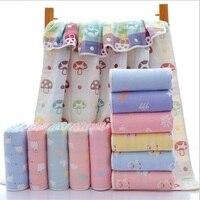 New 6 Layers Muslin Cotton Baby Blankets Swaddles Newborn Wrap Gauze Autumn Winter Kids Bath Towel
