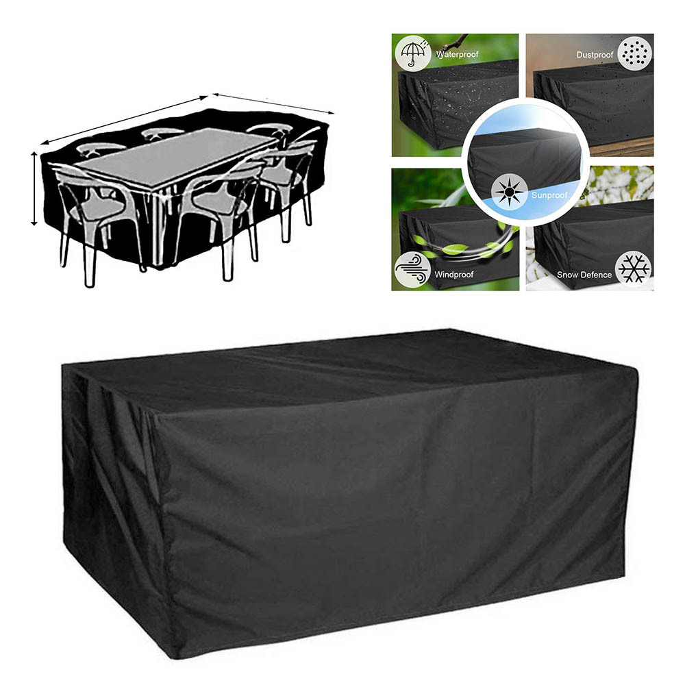 Waterproof Outdoor Patio Garden Furniture Covers Rain Snow Chair Covers Sofa Table Chair Dust Proof All-Purpose Covers