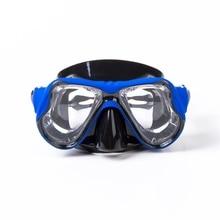 цена на 2019 High Quality silicone Swimming Mask goggle Myopia Diving Mask Prescription lens Professional PC Scuba Mask