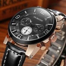 Top Luxury Brand OCHSTIN Men Sports Watches Quartz Hours Chronograph 6 Hands Clock Man Leather Strap Military Men's Wrist Watch