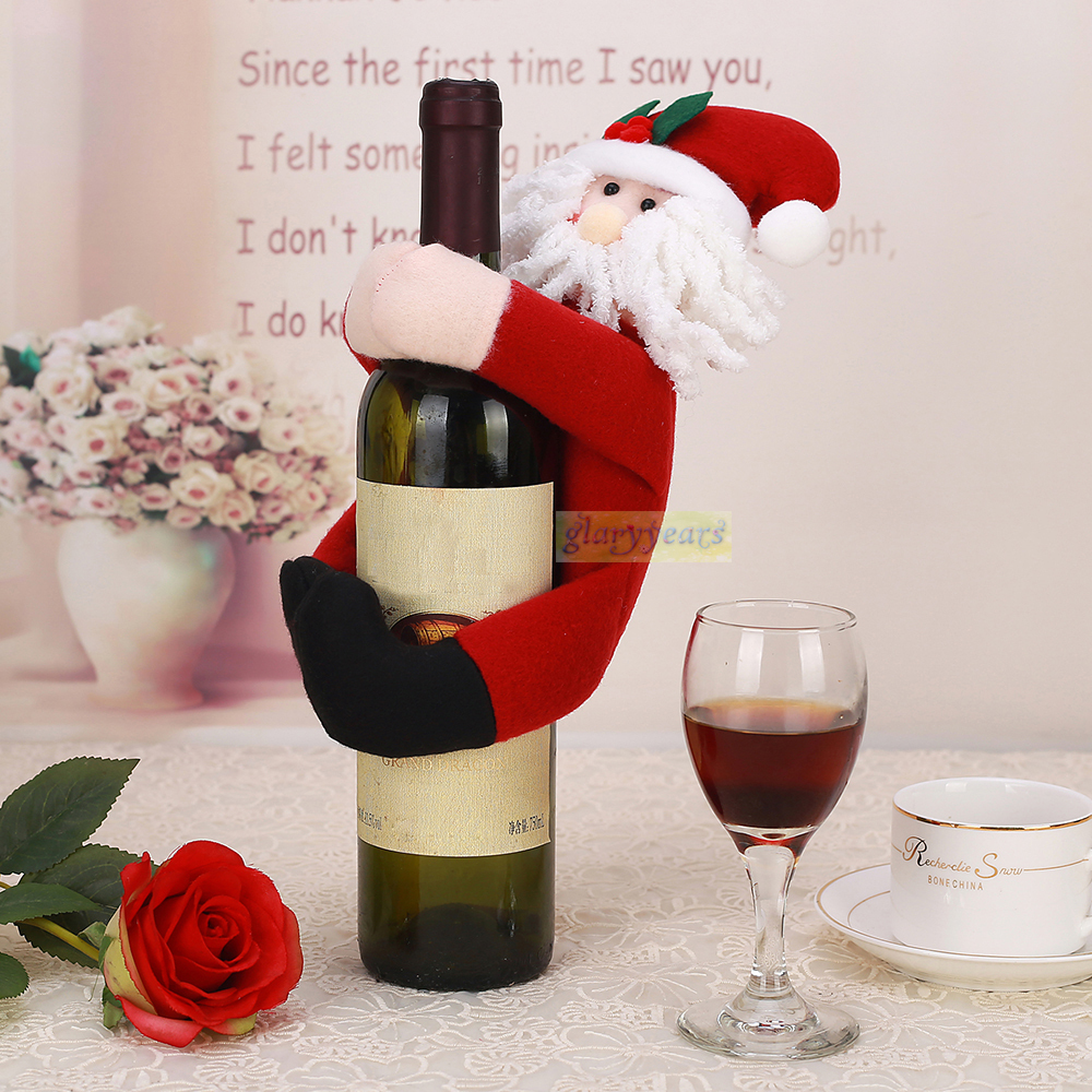 Cute santa claus towel christmas decor - Aliexpress Com Buy 2015 New Towel Bottle Cover Christmas Home Table Holiday Party Gift Supply Xmas Santa Claus Snowman Wine Holder Cover Decoration From