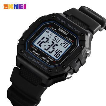 SKMEI Outdoor Sport Watch Men Digital Watches 5Bar Waterproof Alarm Clock Fashion Military montre homme 1496 - discount item  49% OFF Men's Watches