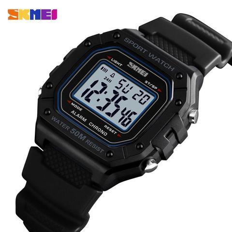 Esporte ao ar 5bar à Prova Skmei Livre Relógio Masculino Relógios Digitais Dwaterproof Água Despertador Moda Militar Digital Montre Homme 1496