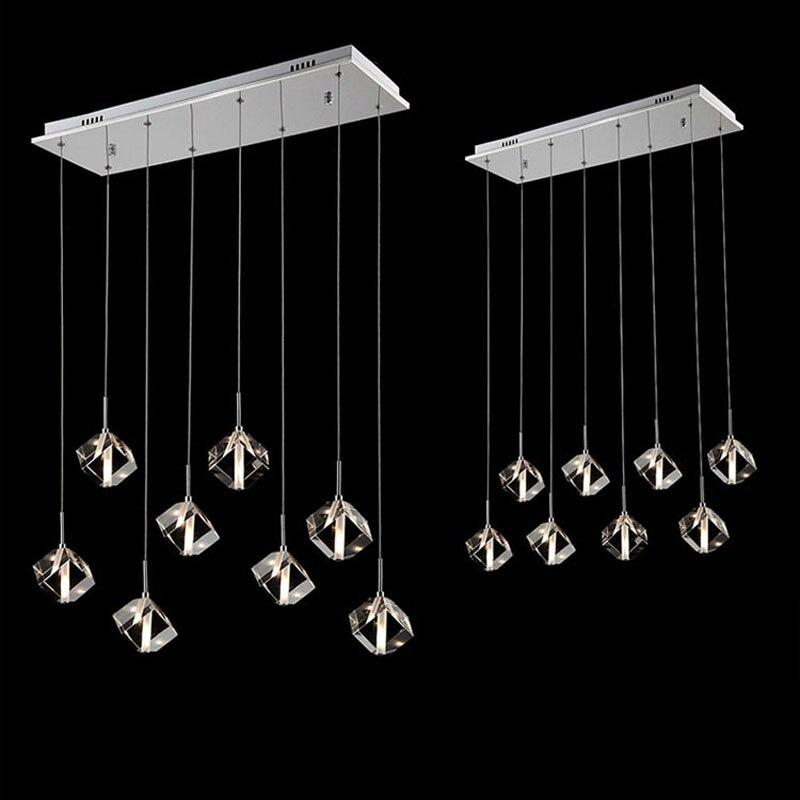 Cristal Cube Comptoir de Bar Pendentif Lumière Moderne Salle À ...