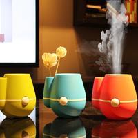 Beautiful Vase Shape USB Ultrasonic Air Humidifier Mini Essential Oil Aroma Diffuser Home Office Mist Maker