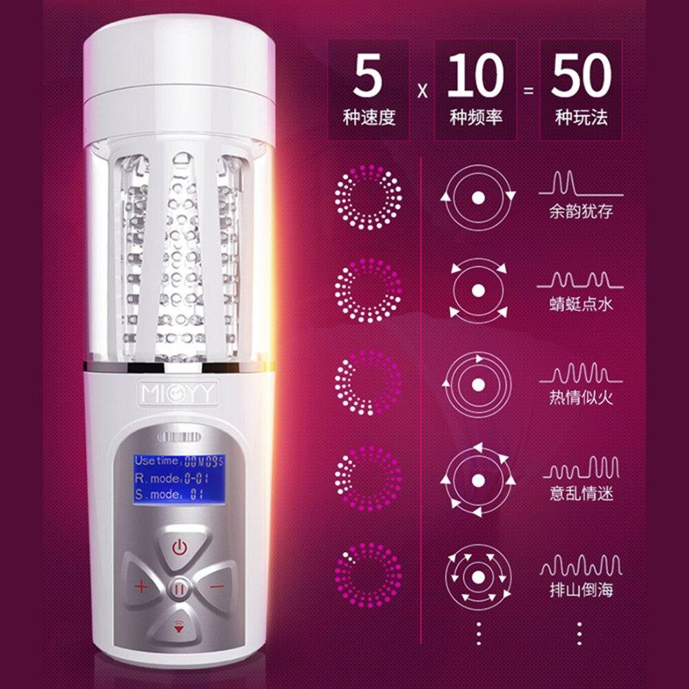 Masturbateur mâle électrique automatique avec Rotation de la voix Moan vibrateur Masturbation tasse simulée chatte vagin jouets sexuels pour hommes
