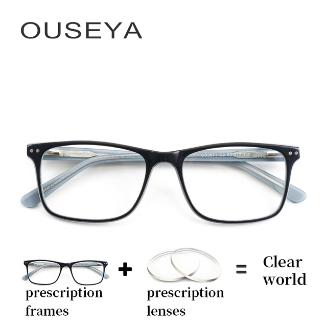c9e71df4a08 Acetate Women Optical Eyeglasses Fashion Diopter Transition Lens Female  Clear Corrective Prescription Glasses  CB3671