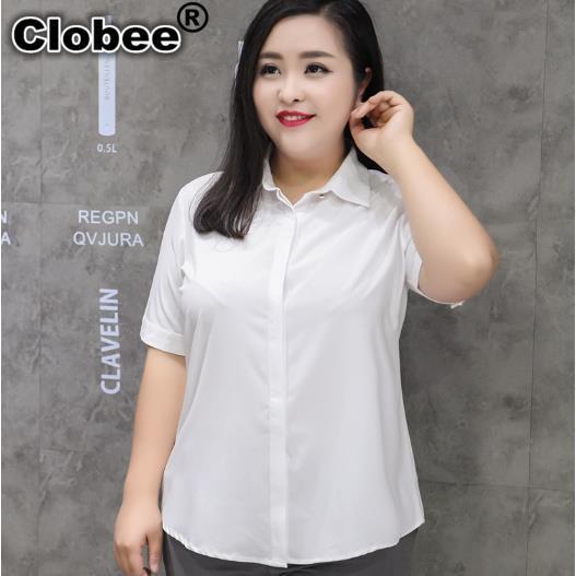 Social 2019 Gasa Blusa De Blanca 8xl El 9xl 7xl Mujeres Ol Elegante M319 Camisa Trabajo 6xl Mujer Las Oficina Femenina Tops Camisas 5xl vRXpR