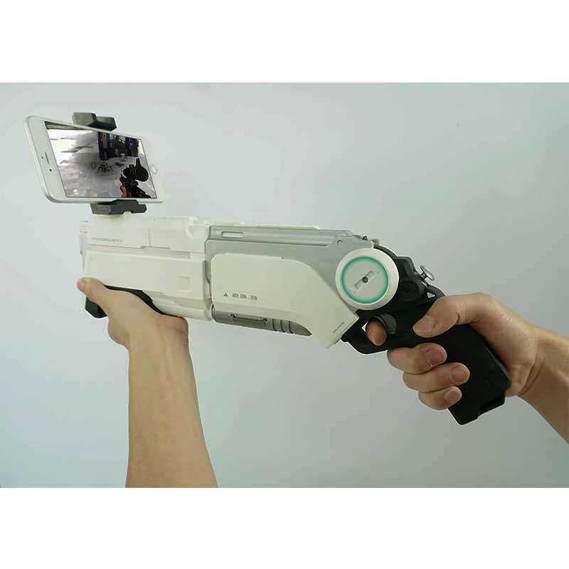Pistolet AR pistolet pneumatique enfants jouets pistolet Airsoft armes Bluetooth support de téléphone portable multijoueur bataille télédétection jeu - 2
