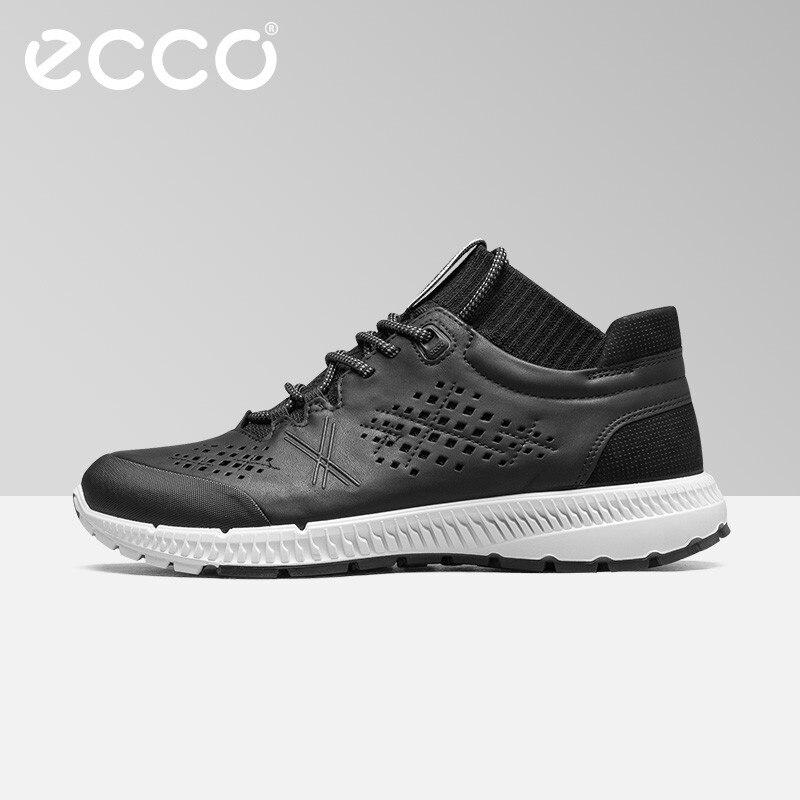 ECCO/Модная Повседневная дышащая прогулочная обувь из телячьей кожи, удобная мужская спортивная обувь, уличные непромокаемые кроссовки