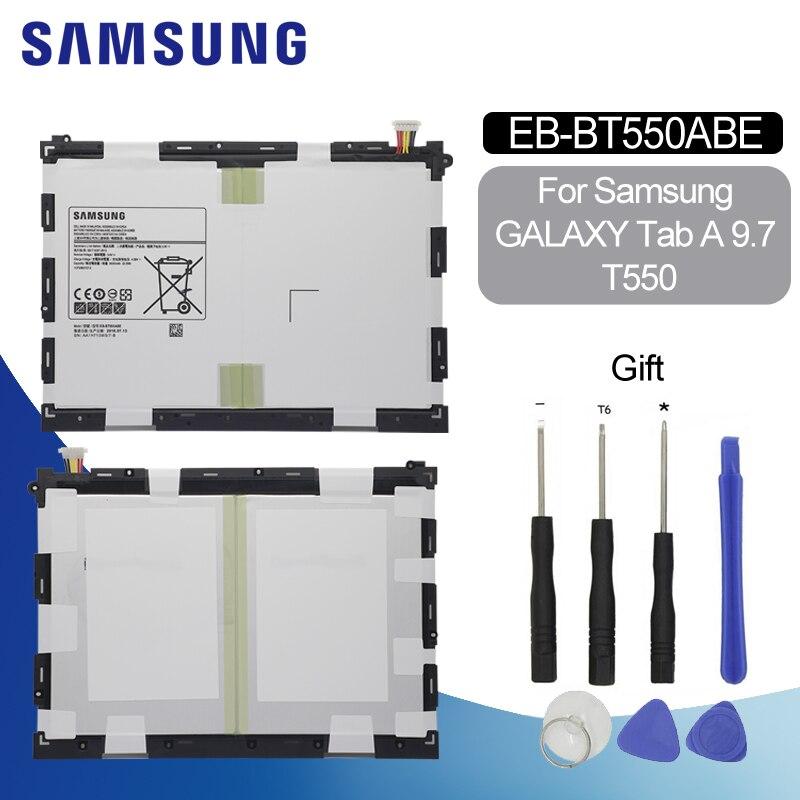 Bateria Original Para samsung T550 EB-BT550ABE 6000 mah para Samsung galaxy tab Um 9.7