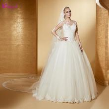 Detmgel Romantic Long Sleeve A-Line Wedding Dresses 2019