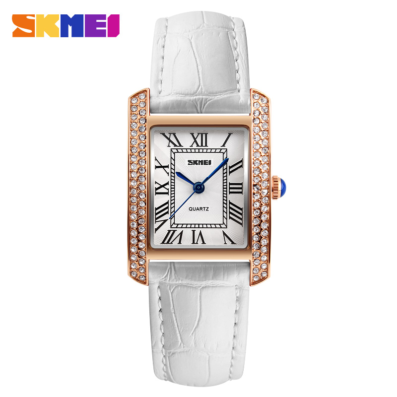 SKMEI Brand Watch Women Watches Retro Relogio Feminino Leather Strap Waterproof Fashion Casual Ladies Quartz Wristwatches New 2016 new brand fashion retro style men dress quartz leather rivets bracelet watches women crystal casual relogio feminino watch