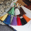 New Arrival High Quality Multicolor Monster PU Leather Tassel Keychain Car Key Chain Key Ring Women Bag Accessories Pendant