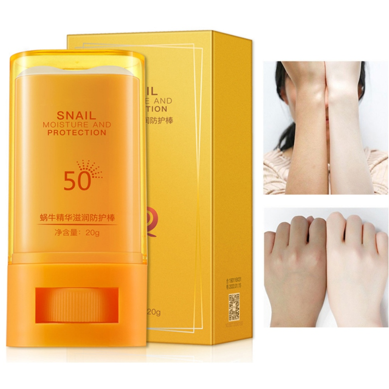 SPF50 Snail Essence Moisturizing Anti-uv Rod Hydrating Nourishing Ultraviolet-proof Sunscreen Cream