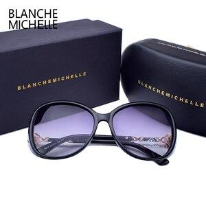 Image 5 - Blanche Michelle 2019 High Quality Polarized Sunglasses Women Brand Designer UV400 Gradient Sun Glasses Pearl oculos With Box
