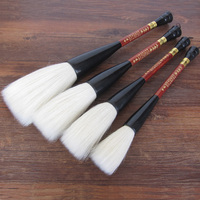 4pcs Pure Woolen Hair Hopper shaped Brush Chinese Calligraphy Brush Pen Big Brush for Inscription Chinese Ink Painting Supplies