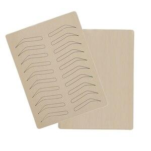 Image 4 - 1PC גומי עיסוק עור מזויף False גבות פיגמנט משלוח עבור Microblading קבוע איפור קעקוע אימון למידה למתחילים