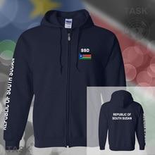 South Sudan mens hoodies and sweatshirt jerseys polo sweat suits streetwear tracksuit nations fleece zipper South Sudanese SSD