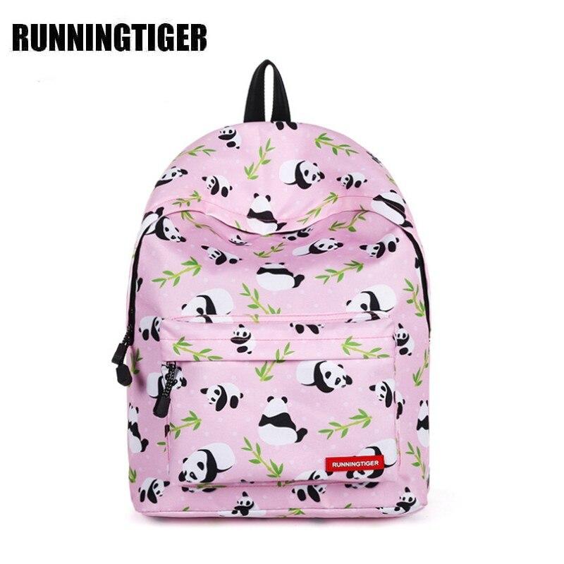 Runningtiger Cartoon Backpack 2018 Women School Bags for Teenager Girl & Boy Nylon Student Backpack Mochila Feminine Panda W687ZRunningtiger Cartoon Backpack 2018 Women School Bags for Teenager Girl & Boy Nylon Student Backpack Mochila Feminine Panda W687Z
