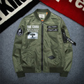 2016 High Quality Ma1 Thin Style Army Green Military motorcycle Ma-1 Flight Jacket Pilot Air Force Men Bomber Jacket M-3XL