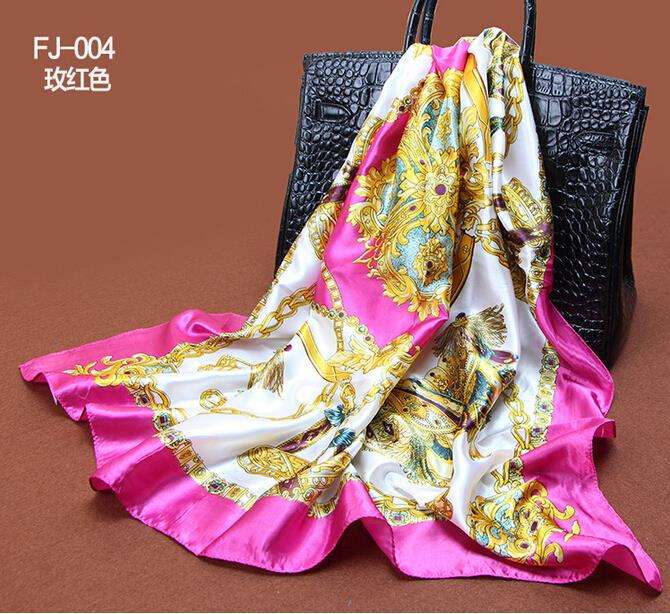 Satin Scarf Square Scarf Headband Royalty Style Cape Satin Silk Designers  Women Brand Scarves 90 90 Square Hijab Scarf 142-in Women s Scarves from  Apparel ... 8dd07f3cd06