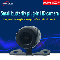 Manufacturer's car camera small butterfly plug in general purpose rear view Bus/taxi rear view high definition video camera