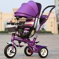Crianças triciclo carrinho de bebê bicicleta