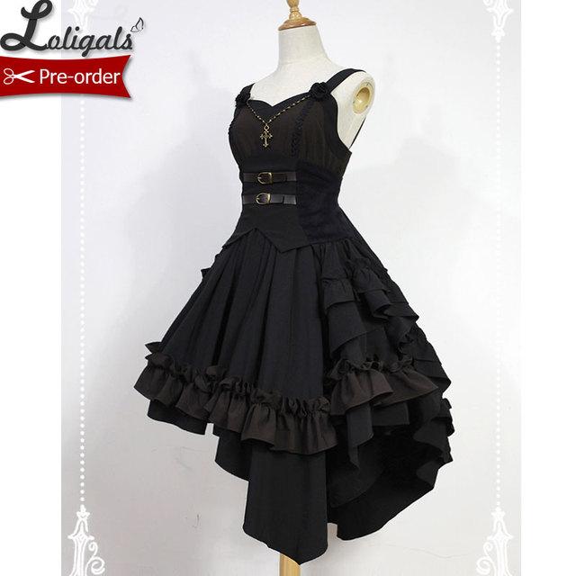2531a240be7 Gothic Lolita Dress Dark Angel Series High Low Lolita JSK Dress by  Soufflesong