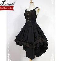 Gothic Lolita Dress Dark Angel Series High Low Lolita JSK Dress by Soufflesong