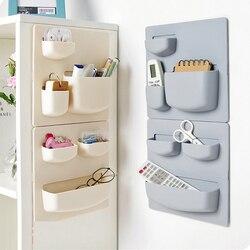 Домашняя настенная присоска, пластиковая стойка для хранения косметики, туалетных принадлежностей, держатель для хранения мелочей, ванной ...