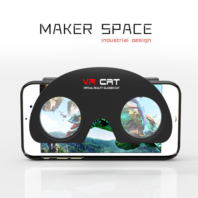 2016 Hot! Original Foldable 3D Glasses VR Cat Phone Case vr Box 2.0 For iPhones 6 6S Plus virtual Reality Goggles VR 3D Games