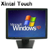 Xintai desktop 4-wire/5-wire touch monitor/15 inch touch screen LCD monitor