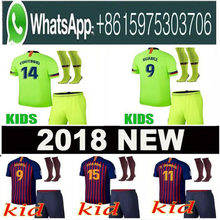 11f43f9d03 Top 2018 Dembele MESZ Camisa Crianças Camisas de futebol 2019 Barcelona  Messi INIESTA INIESTE camisa 18