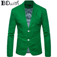 2019 New Arrival Men Blazer Jacket Green Casual Long Sleeve Notched Collar Men Coat for Party Groom Wedding