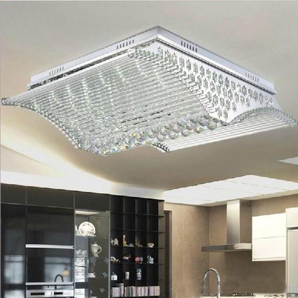 LED Luxury crystal lamps Modern K9 Crystal LED sitting room Ceiling Lamp freeshipping