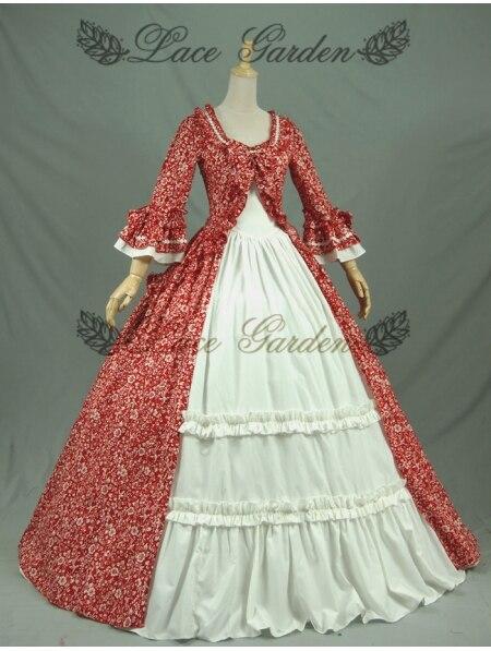 Красные Бальные платья в викторианском стиле платья для женщин