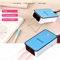 110V-220V Mini Small Electric Heaters Portable Hand Warmer Fan Pocket Warming Machine For Home Office With Overheat Protection