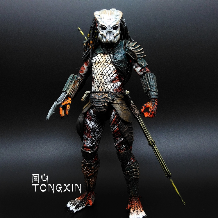 Alien VS Predator Warlord Jagged Warrior AVP Celtic Movable Doll Mask T22 warlord of mars