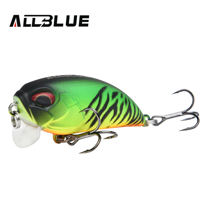 ALLBLUE Floating Shallow Diving Crankbait Fishing Lures 8.1g/50mm Lifelike Wobblers With 8# Sharp Hooks peche isca artificial 8pcs artificial fishing lures hooks 8 color fishing lures bait with 6 fishing hooks set kit wobblers lifelike high durability c3