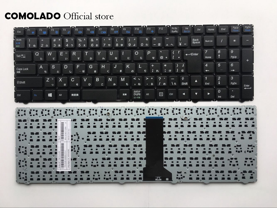 JP Japanese keyboard For Clevo W650SR W650 W655 W650SJ W6500 Black Without Frame keyboard JP Layout laptop keyboard for clevo p157sm p157sm a black without frame greek gk