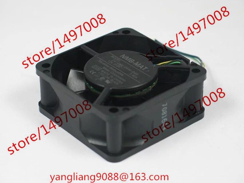 Free Shipping For  NMB 2410ML-04W-B66, C05 DC 12V 0.40A, 60x60x25mm 4-wire 80mm Server Square cooling fan
