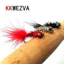 KKWEZVA 20pcs Fishing Lure Flash fly Goldfish Different Style Salmon Trout Single Fly Lures Tackle